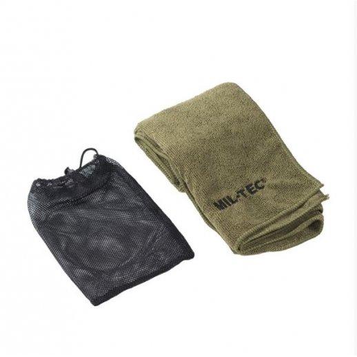 Håndklæde i microfiber fra Mil-Tec - Oliven grøn