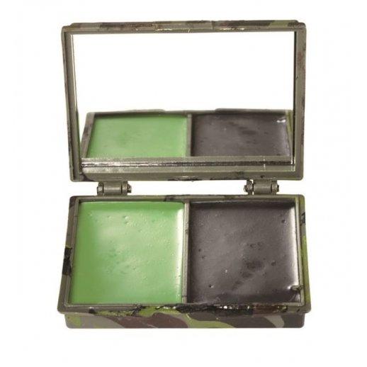 Ansigtsmaling 2 farver med spejl fra Mil-Tec