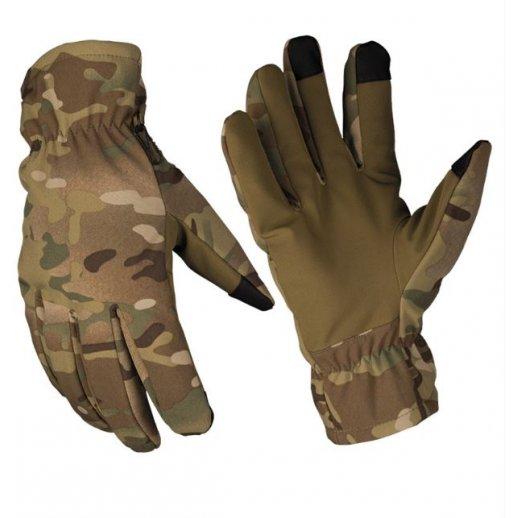 Softshell handsker i Multicam fra Mil-Tec