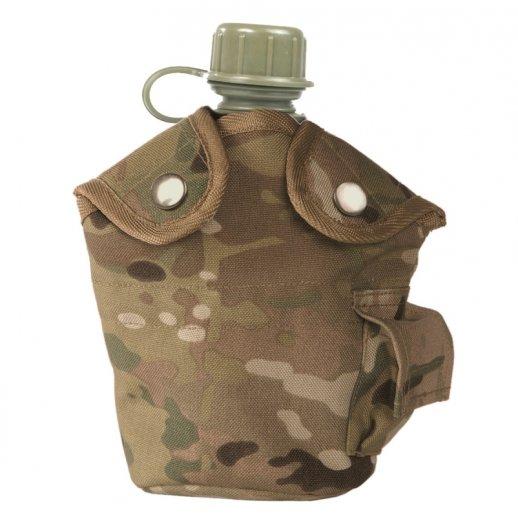 Feltflaske m. Canteen Cup og Multicam cover