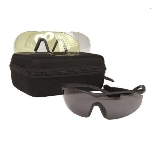 Sportsskydebriller - m. 3 udskiftelige linser
