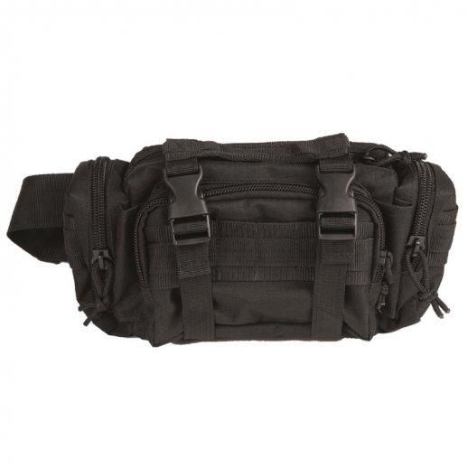 Mil-tec Bæltetaske med MOLLE - SORT