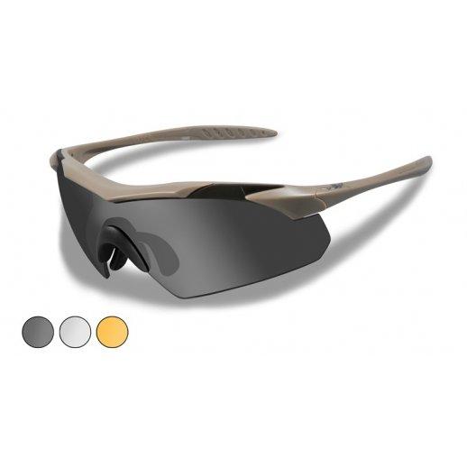 Wiley X - VAPOR -Smoke/Clear/Light Rust - TAN
