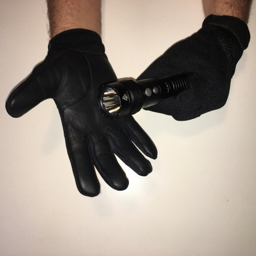Performance handsker m. læder og Kevlar