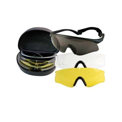 Fire Tec sports brille med 3 linser