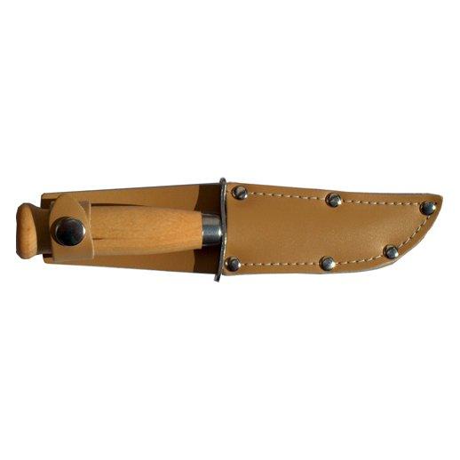 Spejderkniv med læderskede - 85 mm