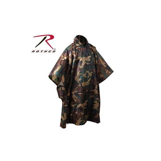 Regnslag Karftig Ripstop - Woodland Camouflage
