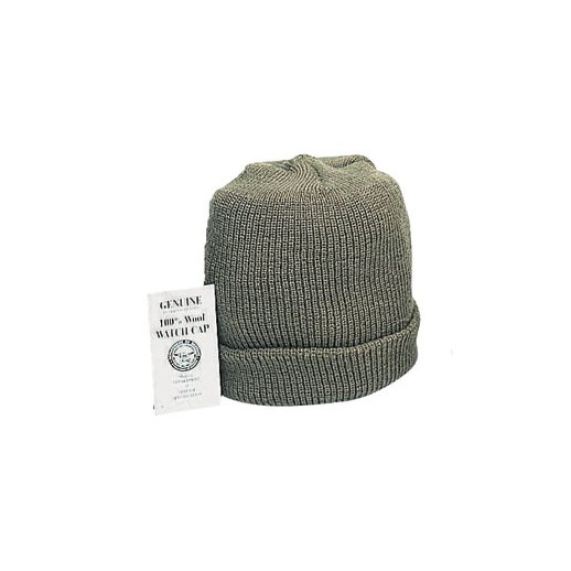 Genuine Wool Watch CAP - Oliven