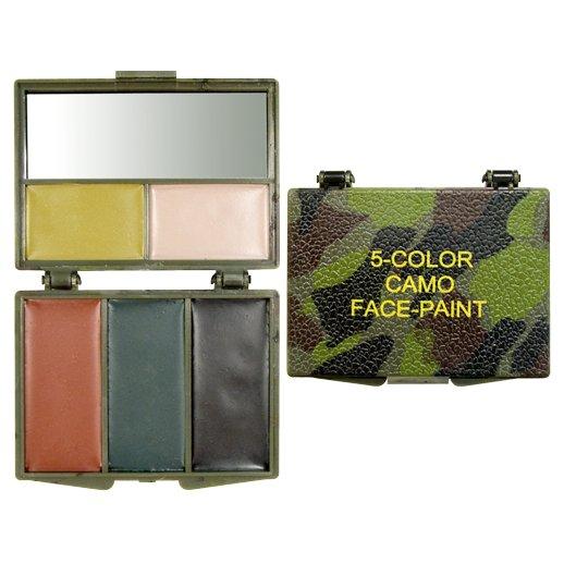 Woodland Camouflage 5 farver ansigtsmaling