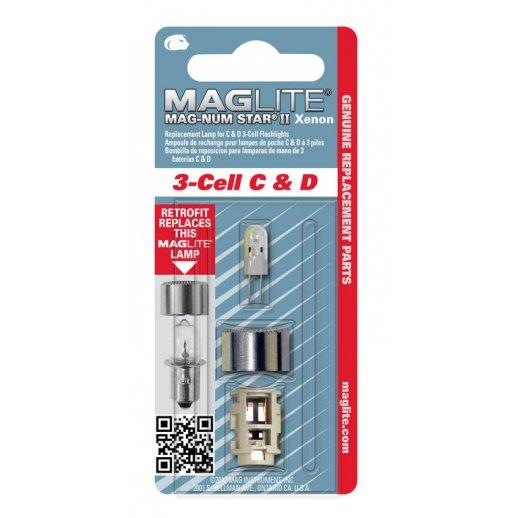 Maglite Upgrade kit Xenon pære - 3-Cell