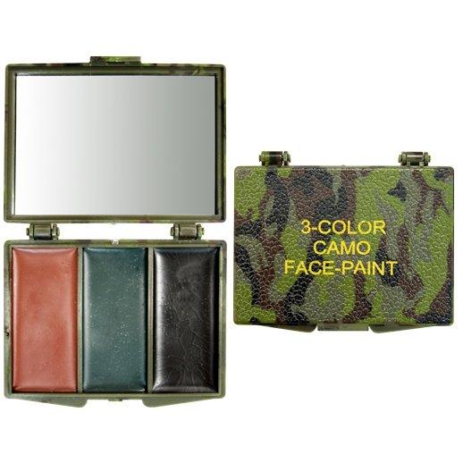 Woodland Camo 3 colour face paint compakt