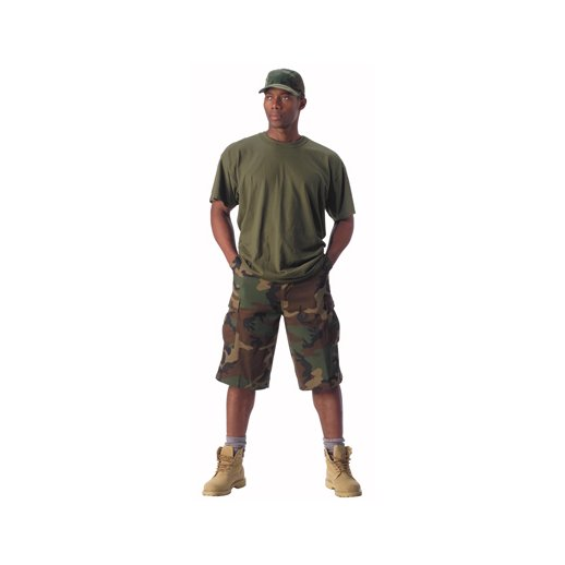 Woodland camo Bermuda shorts