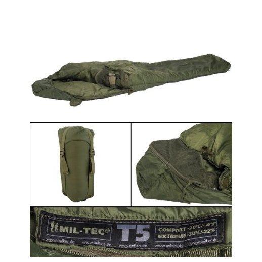 TACTICAL 5 sovepose fra Miltec - Oliven