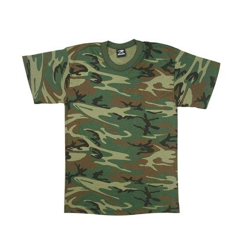 Smart t-shirt Camo woodland til børn