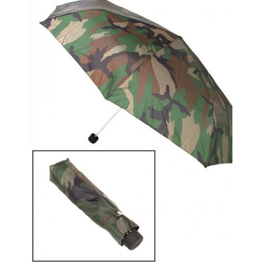 Lomme paraply i camouflage farver