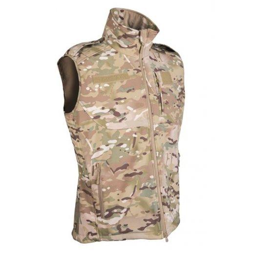 Mil-tec Softshell Vest i Multicam Camouflage