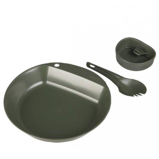 Wildo 3-delt spisesæt med tallerken, Spork og kop