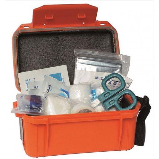 Vandtæt førstehjælpskasse med indhold