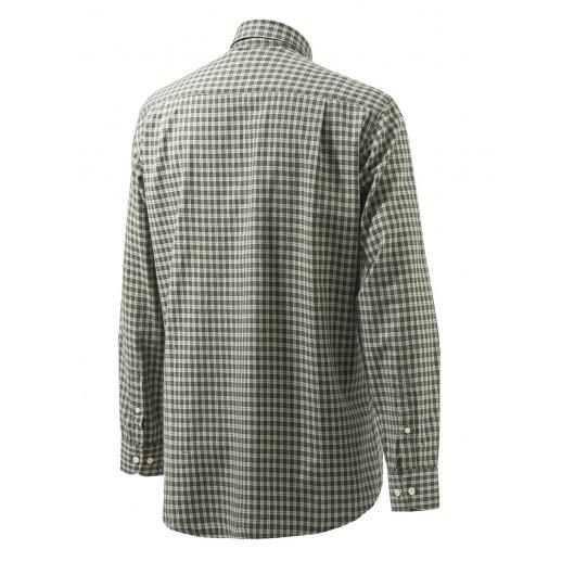 Beretta - Button down grøn-ternet skjorte