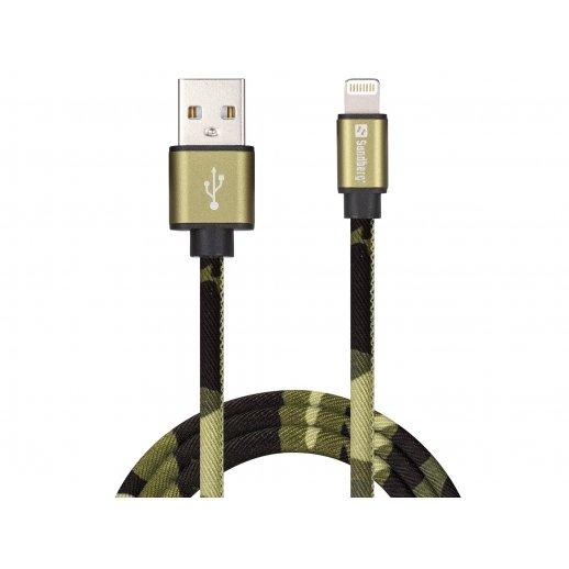 Sandberg USB Lightning Kabel 1m - Camouflage
