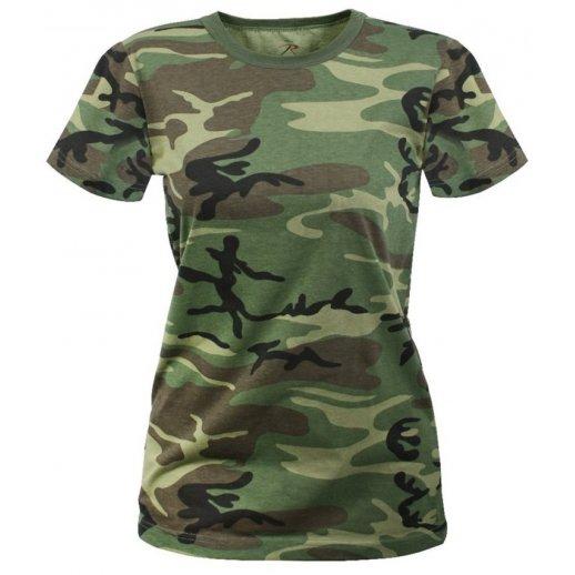 Camouflage t-shirt til dame - lang model