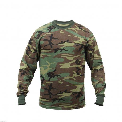 Langærmet Camouflage t-shirt