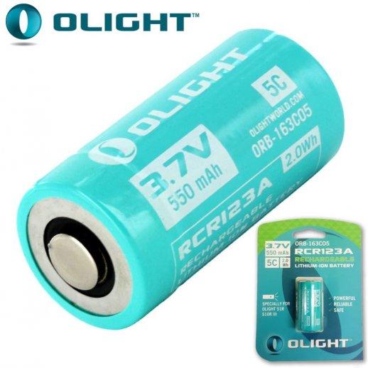 Olight - RCR123A genopladeligt batteri 550 mAh