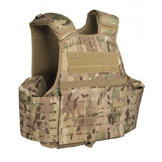 Laser-cut Carrier vest fra Mil-tec - MultiCam