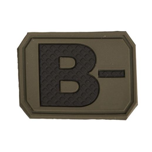 Mil-Tec Blodtype B- VelcroPatch