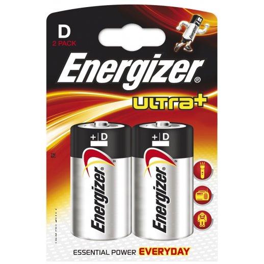 Energizer D-cell / LR20 / Mono batterier (2 stk blister)