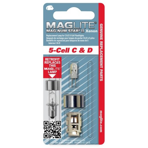 Maglite Upgrade kit Xenon pære - 5-Cell