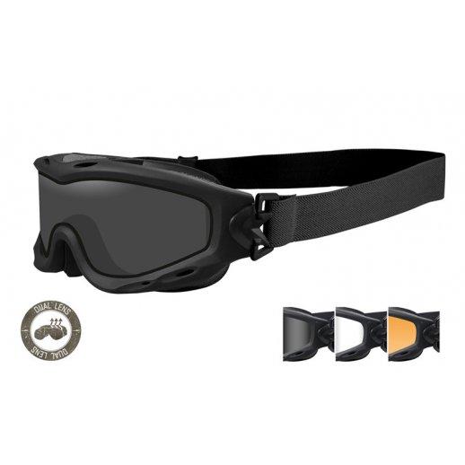 Wiley X - SPEAR Dual smoke/clear/rust Matte Black Frame