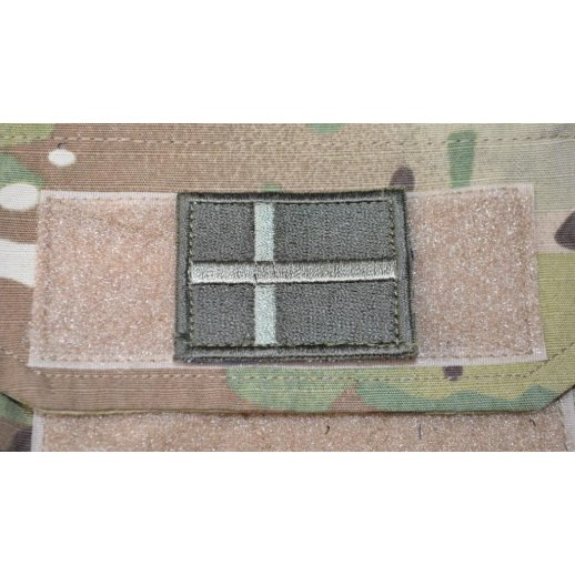 Dannebrog Velcro Patch - Oliven