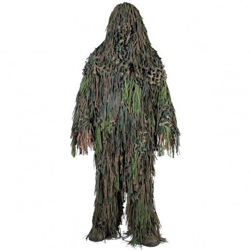 Ghillie Suit Jackal 3D camouflagesæt - Woodland