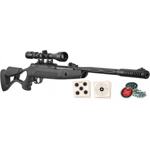 Hatsan Airtact ED luftgevær 4,5 mm inkl kikkert, skydeskiver & hagl