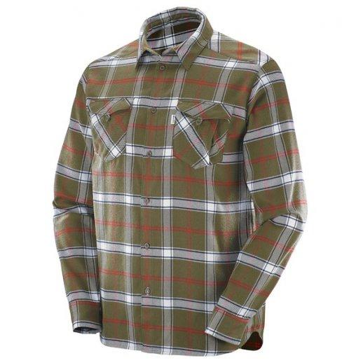 Salomon Flannel Skjorte / skovmandsskjorte, Grøn