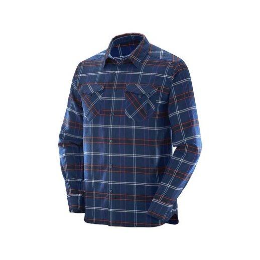 Salomon Flannel Skjorte / skovmandsskjorte, Blå