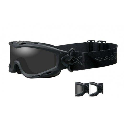 Wiley X SPEAR - Smoke/Clear Black frame