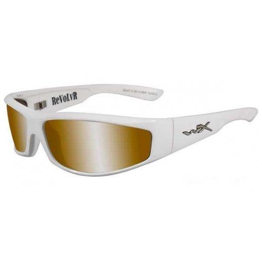 Wiley X - REVOLVR Bronze Silver Flash Pearl White Frame